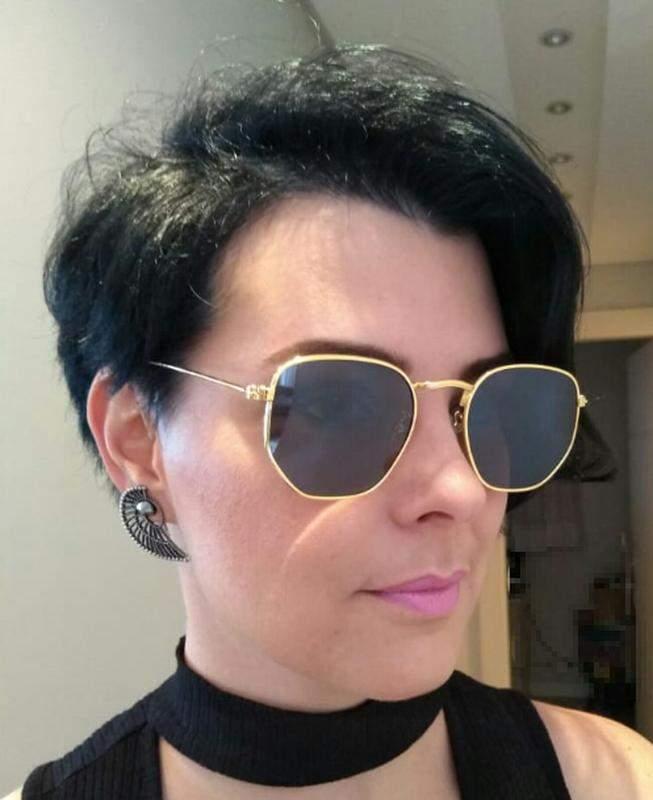 d84329f42 Óculos de sol feminino retro hexagonal verão 2019 promoção - R ...