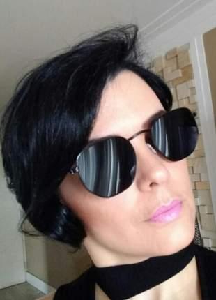 Óculos de sol hexagonal feminino proteção uv verão 2019