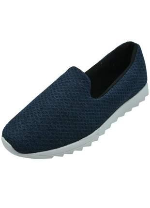 Sapatilha tênis confort azul marinho distinta