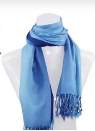 Lenço feminino degrade com franja longo cachecol lenço