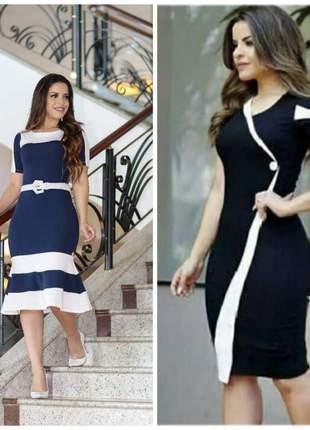Kit 2 vestidos evangelicos femininos moda evangelica executiva