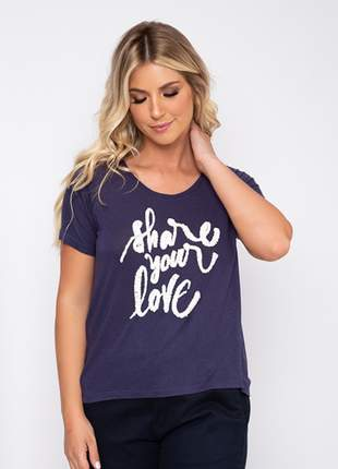 Camiseta share your love bordado 1009