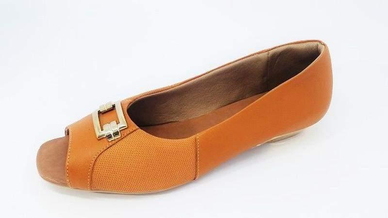 536649dff2 Sapato feminino tamanho grande peep toe usaflex whishey numeração especial  40
