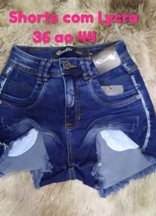 Short jeans cintura alta promoção verão