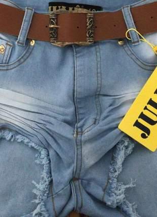 Short jeans cintura alta da julie promoção verão