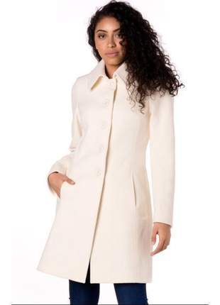 Casaco de lã 7/8 off white