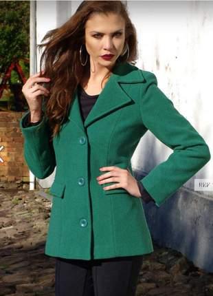 Casaco de lã verde
