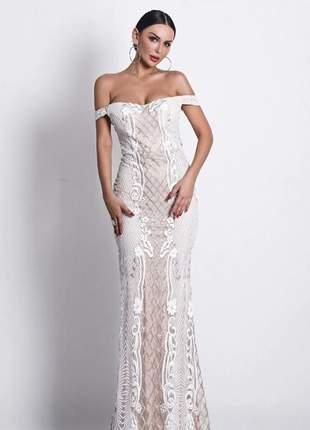 Vestido de noiva nude vestido de festa pandora