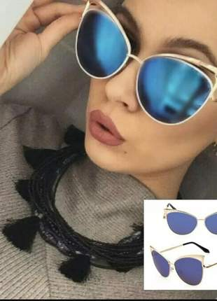Óculos sol espelhado feminino