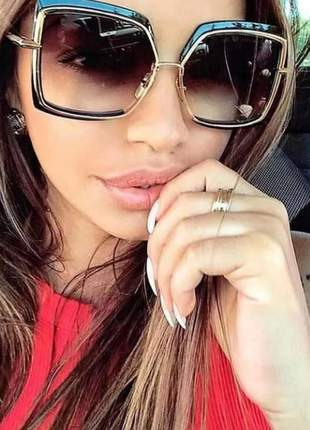 Óculos de sol quadrado grande feminino fashion