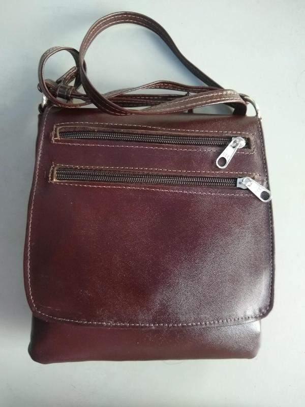 24e8e237f ... Bolsa em couro legítimo transversal com aba grande/lisa direto do  fabricante4 ...