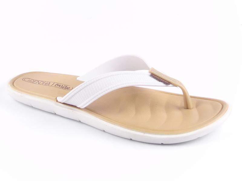6edfeeea50eb61 Sandália rasteirinha feminina branca rasteira chinelo confortavel moda  praia - R$ 49.99   SHAFA - O melhor da moda feminina