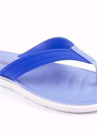 Chinelo sandália feminina rasteira azul grendha cancun
