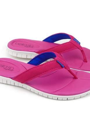 Sandália rasteirinha feminina pink rasteira chinelo rosa confortavel beira rio conforto