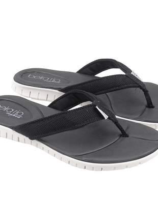 Sandália rasteirinha feminina preta rasteira chinelo confortavel beira rio conforto