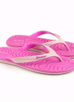 Chinelo rider smoothie macio confortável praia e piscina rosa