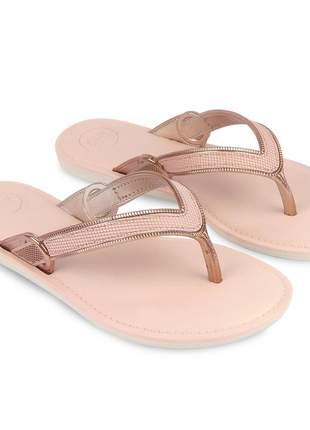 Sandália rasteira feminina chinelo rosa strass confortavel barato passeio lazer