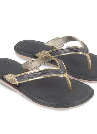 Sandália rasteira feminina chinelo preto strass confortavel barato passeio lazer