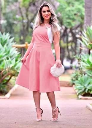 Vestido jardineira salapeti midi