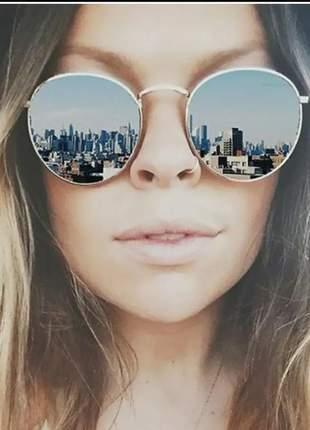 Óculos redondo lupa rave espelhado 2019