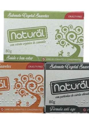 Kit sabonetes vegetais orgânico natural