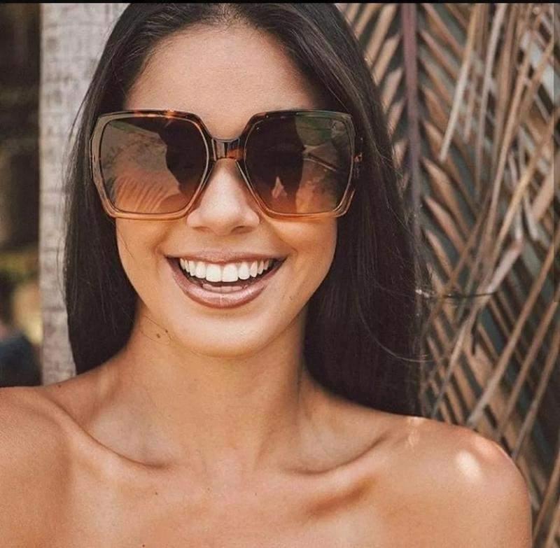dedfc33e0 Óculos marrom importado luxuoso tendencia moderna praia 2019 - R ...