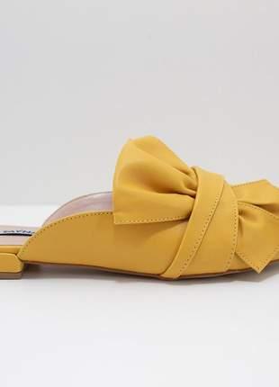 Mule bico fino amarelo