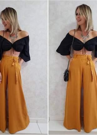 Calça pantalona cores inverno lançamento 2019