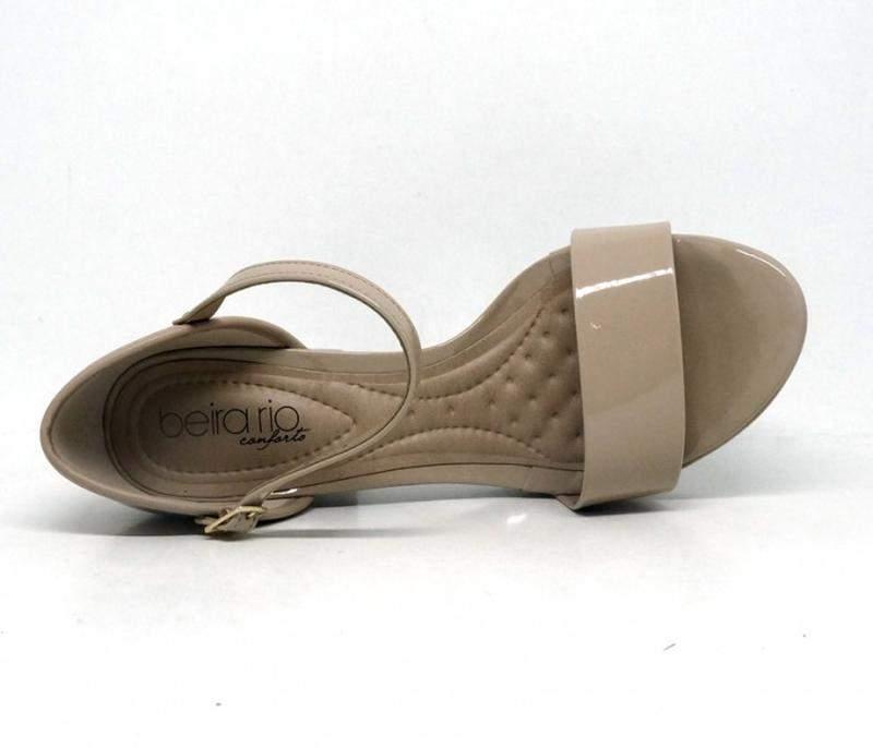 cc94fe7880 Sandália feminina beira rio conforto salto quadrado bege - R  176.99 ...