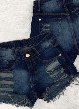 Shorts jeans rasgadinho
