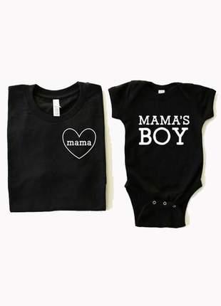 Kit mãe e baby mama e mama´s boy ou mama´s girl
