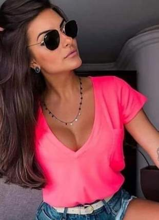 T-shirt podrinha neon pink