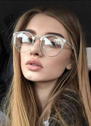 Óculos dia e noite estiloso nerd sem grau redondo round barato