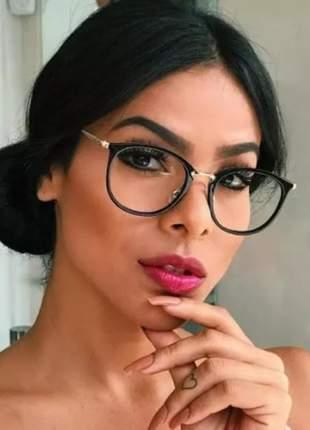Óculos grande armação para grau lente clara dia a