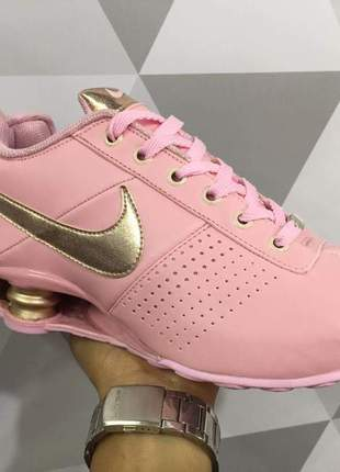 Tênis nike shox feminino classic rosa