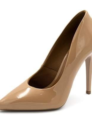 Sapato social feminino scarpins nude salto alto fino