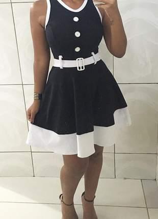 Vestido social  curto rodado ref 55