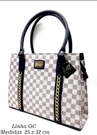 Bolsa feminina gc de luxo couro