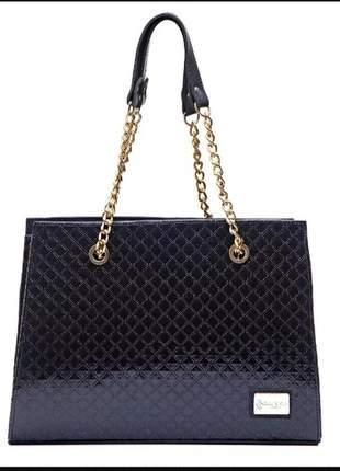 Bolsa feminina gc de luxo black keopps