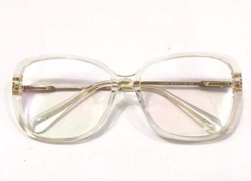 c4a6b33a6 Armação feminino retangular frande acetato transparente1; Armação feminino  retangular frande acetato transparente2