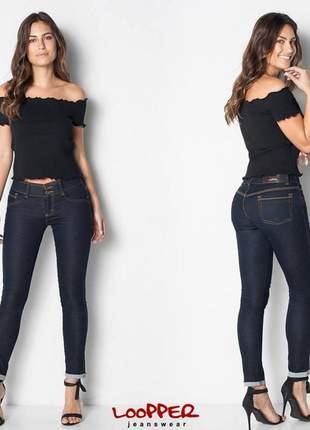 Calça jeans premium cigarrete - loopper k2753759/k2756859