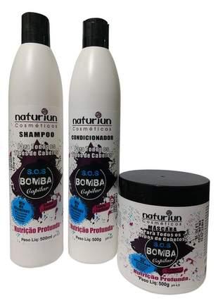 Nutrição capilar e hidratação kit sos bomba