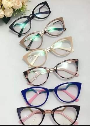 12b454b7c Óculos para grau feminino quadrado vermelho nova coleção oluxo - R ...