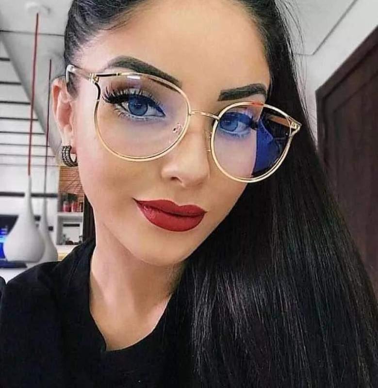 8dc0d7578 Óculos para grau armações feminino redondo dourado novo chic - R ...