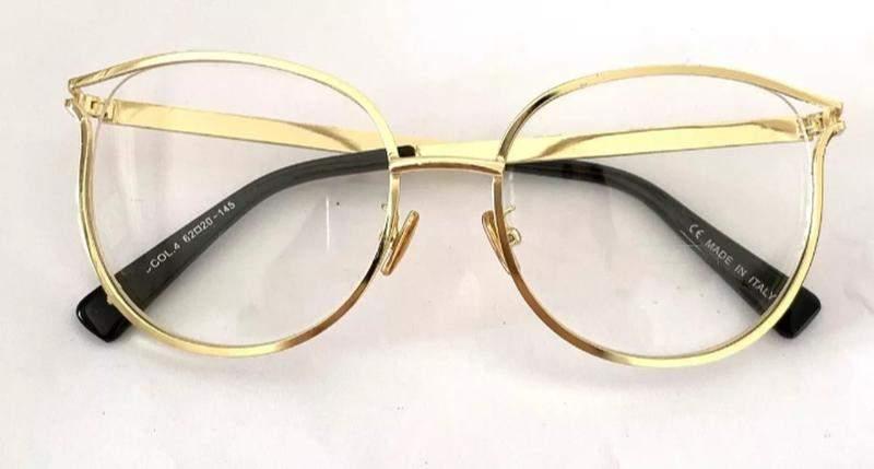 1b1515b94 ... Óculos para grau armações feminino redondo dourado novo chic2 ...