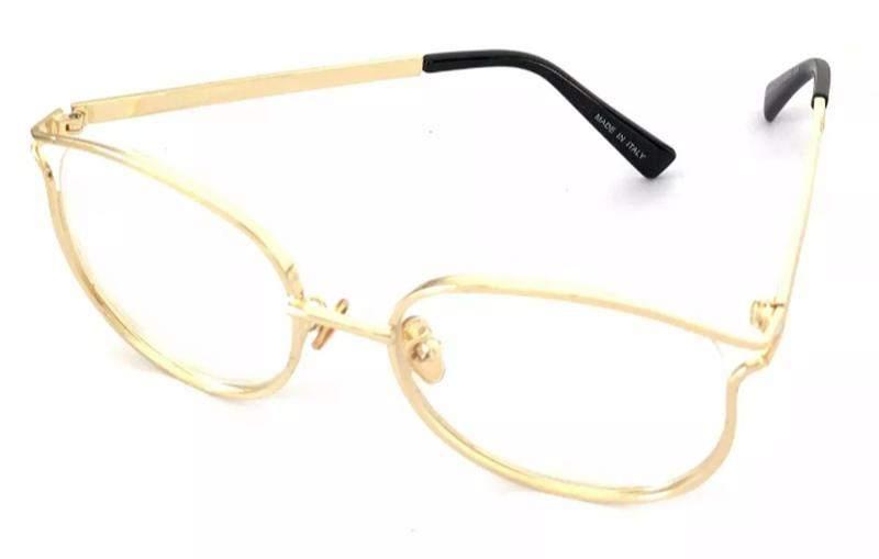 cce3b71ea ... Óculos para grau armações feminino redondo dourado novo chic3 ...