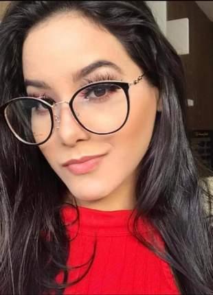 Armação feminino óculos oluxo redondo vitage original