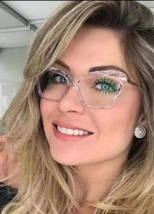Óculos armação feminino vintage fino quadrado t01 importado