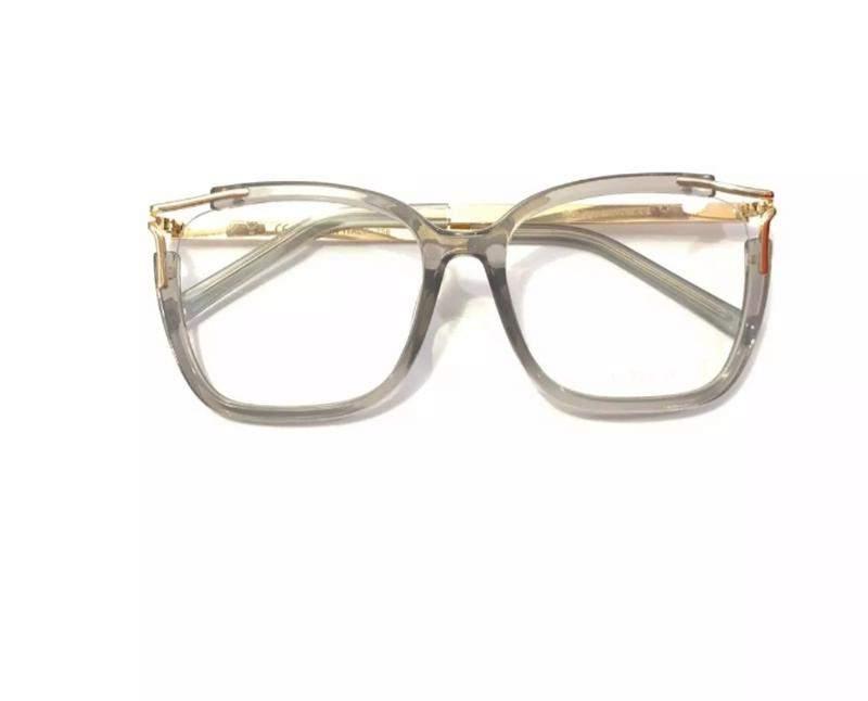 99e8d93ed ... Óculos para grau armações feminino quadrado dourado cinza2 ...
