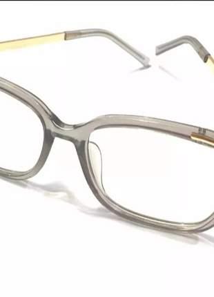 0c2405100 ... Óculos para grau armações feminino quadrado dourado cinza3 ...